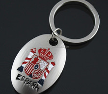 Elegant Spanish national emblem key chain fashion tourist souvenirs kechain for promotion
