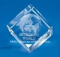 Cristal do laser 3d bloco