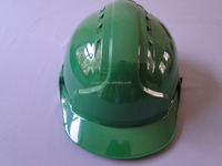 cheap CE en 397 green ratchet helmet safety with chin strap ABS
