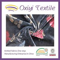 2015 china changshu factory velvet silk fabric for girl dress