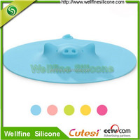 Lovely Pig Shape silicone Cup bottle Lid fresh cover