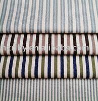 Stripe cotton and polyester woven jacquard mattress fabric