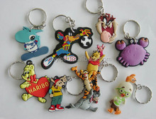 Minion Doll 3D Key Chain soft PVC Keychain Key Ring Despicable Me Action Figure Good Christmas Promotion gift
