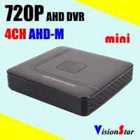 AHD camera analog camera IP camera for security system Mini 4ch CCTV DVR AHD-M 720P compatible