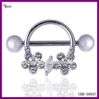 Fashionable Stainless Steel 16g Chain Nipple Piercing