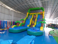 Top selling inflatable forest theme slide with two lanes