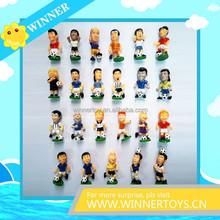 Customized 3d design football player action figure