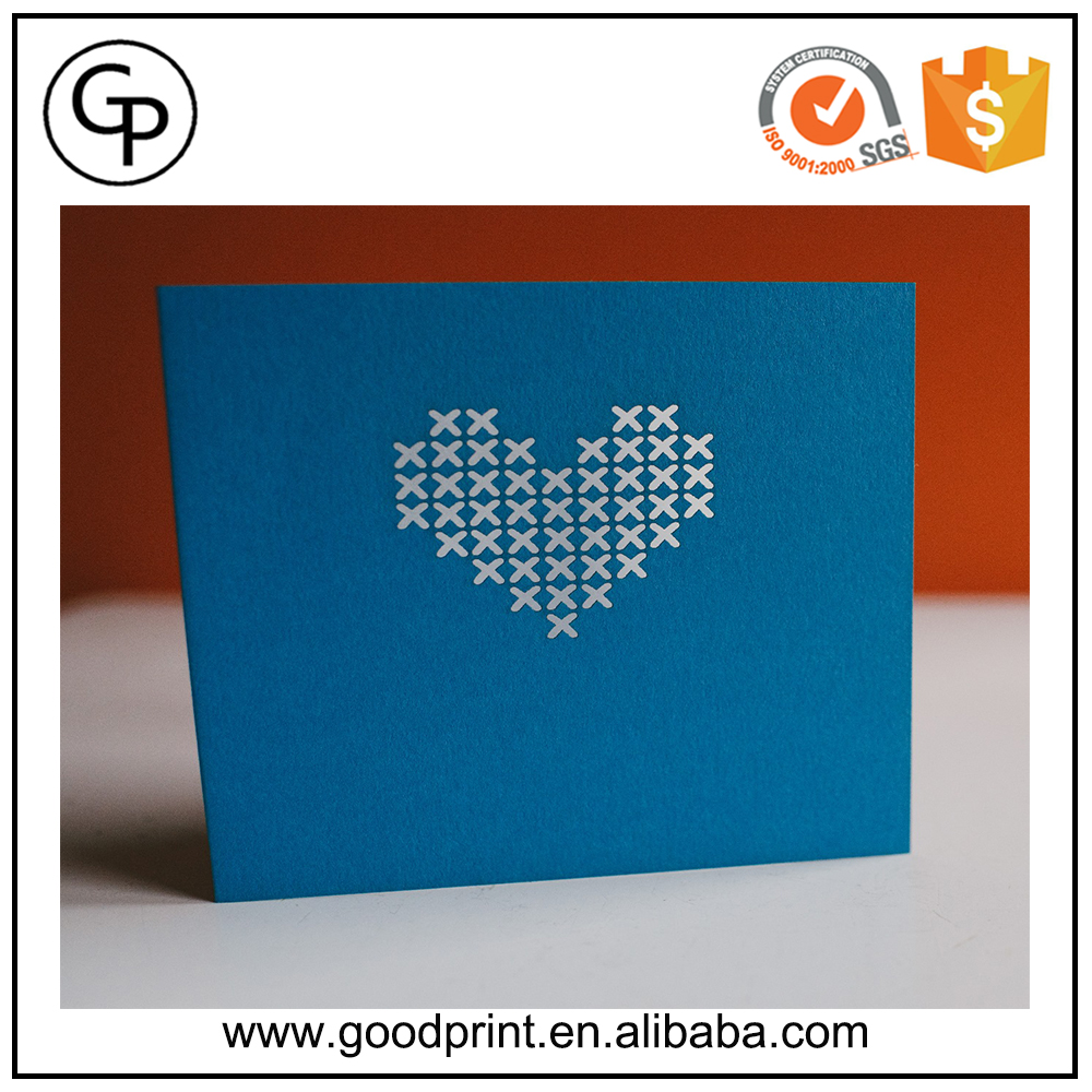 New Fashion Different Shape Design Heart Shape 3d Greeting Card For