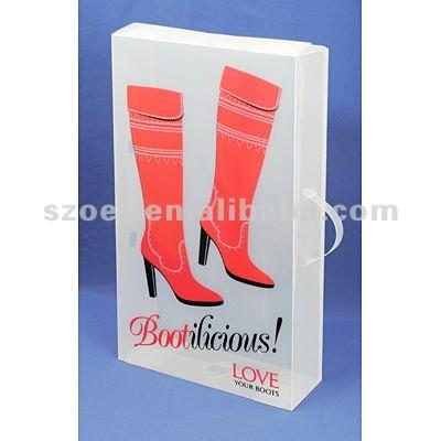 bo te claire de chaussure bo te pliable d 39 exposition bo te de tiroir de chaussure bo te. Black Bedroom Furniture Sets. Home Design Ideas