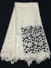 New arrival guipure lace fabric best price for ladies garment LN050402-1