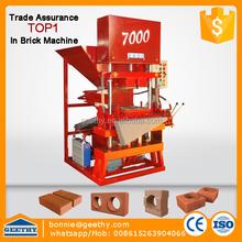 clay interlocking machine Eco master 7000 china interlock block machine earthing interlock