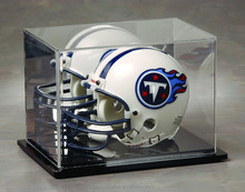 Popular high quality Acrylic rugby hat display case, cap display case box