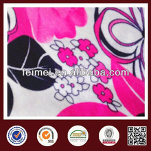 Feimei poly span print lace fabric new sample