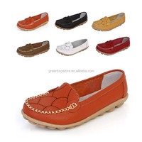 2015 Ladies Casual Outdoor Shoes Comfortable Soft Bottom Round Toe Flat Heel Breathable Rubber Flats Free Shipping