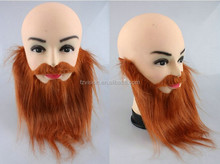 New design Halloween party fancy dress plush brown party fake beard moustache