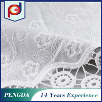 Fabric textile supplier Top quality Custom Net embroidered eyelet fabric