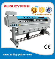 Audley eco solvent digital flex banner printing machine price in india with CE/1.8m/1.6m/3.2m