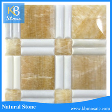 New arrival Yellow onyx marble new mosaic tile 2015