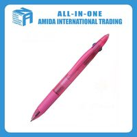 Plastic three color pen, Exquisite business advertising promotion three pens