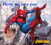 spiderman paper puzzle