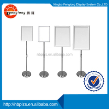 Sign Holder Graphic Pedestal Snap Frame Display Stand 8.5x11 free standing menu holder