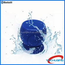 2015 Waterproof mini bluetooth speaker with sucker function for shower