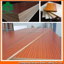 Thickness of 18mm uv color painting board/uv melamine mdf