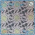 floral poliéster laço de tecido para cortina