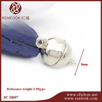 RenFook factory direct sale 925 sterling silver magnetic clasps manufacture