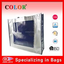 tote bag with aluminum laminated, foldable shopping bag