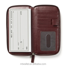 2015 Hot Selling Leather Checkbook Wallet/ Leather Checkbook Cover