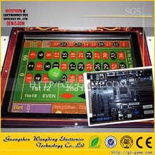 6 players USA electronic roulette machine for roulette game board/casino game board