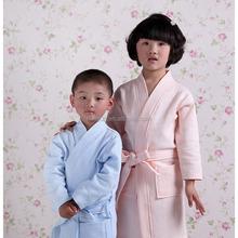 Kimono Robe crianças crianças Waffle roupão roupão verão fino