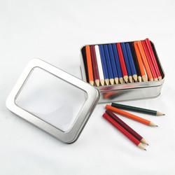 rectangular window tin pencil packing box