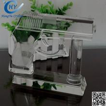 new design glass crystal business gift, lively crystal gun model