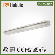 explosion proof fluorescent ceiling light plastic cover