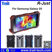 R-Just Water Dirt Shock Proof Hybrid Silcone+ Metal Aluminum Case for Samsung Galaxy S5 I9600