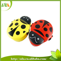 Beautiful in color Ladybird shape plastic lunch box for microwave 550ml