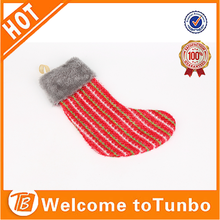 wholesale mini christmas stockings cheap plush red christmas stocking
