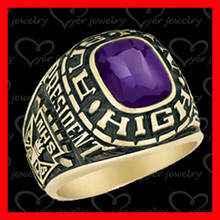 Hot Sale!! Rose Gold Painting custom made class rings