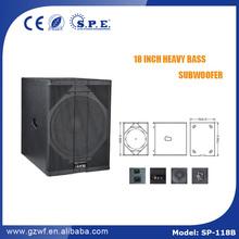 SPE AUDIO super woofer speaker SP-118B 18 inch subwoofer 600W neodymium woofer speaker