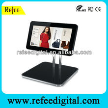 15 Inch Ipad Style Mall Hotel Counter Stand Sun Bright LCD