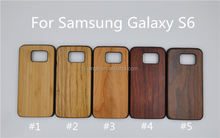 High quality bamboo phone hybrid case PC+wooden back bamboo wood wooden case for samsung galaxy s6 alibaba china