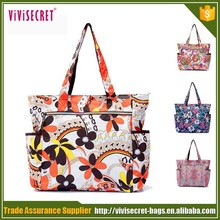2015 custom printing ladies designers mummy handbags baby diaper bag