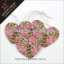 Lovely pattern paper air freshener fragrance for car