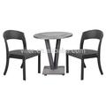 imitação de mármore de mesa com cadeira de vime