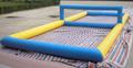 Comercial gigante inflável vôlei tribunal/praia inflável vôlei tribunal/voleibol inflável jogo de bola de campo