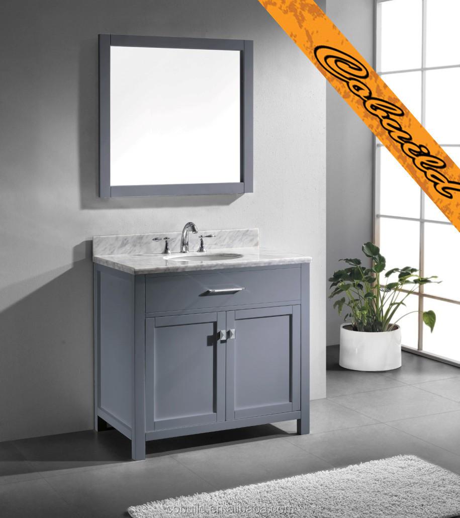 """Salle De Bain Moderne Grise se rapportant à 36"""" moderne, gris. évier salle de bain vanité( bel014a)-meuble"""