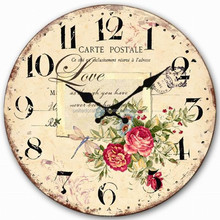 Antique finished MDF wall clock with Message board