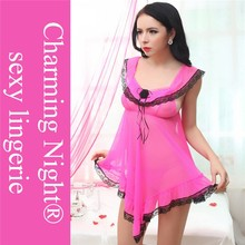 factory adult lingerie sexy transparent babydoll 9008#